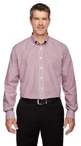 Devon /& Jones Men/'s Long Sleeve Back Pleat Adjustable Button Down Shirt D500