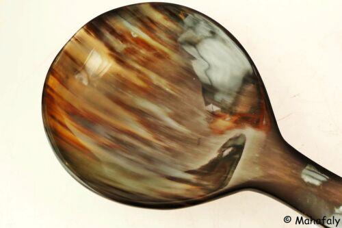1 x Horn Schöpflöffel Eliette groß rund 24 cm hornspoon Hornlöffel Hornbesteck