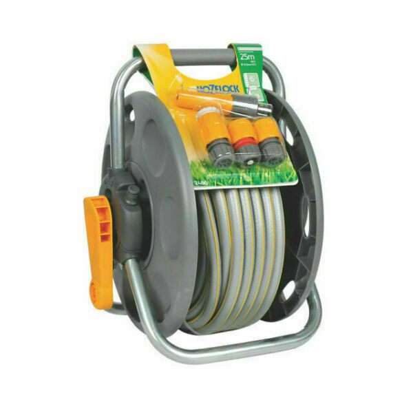 Hozelock 2 in1 45m Hose Reel With 25m Hose Pipe garden watering equipment - 2431