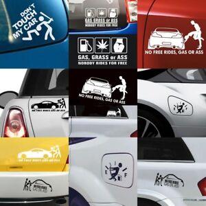 1PC Funny No Free Rides Gas Or *** JDM Car Window Decor Vinyl Decal DIY Sticker