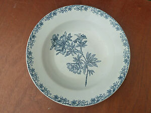 Ancien Plat En Céramique De Sarreguemines Modèle Flore, Art Populaire Pour Aider à DigéRer Les Aliments Gras