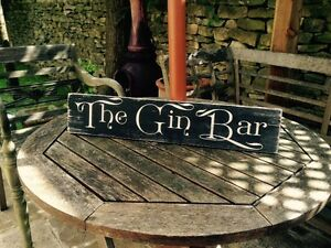 Gin tonic gin bar pub bbq sign plaque party gift vintage for Garden shed gin