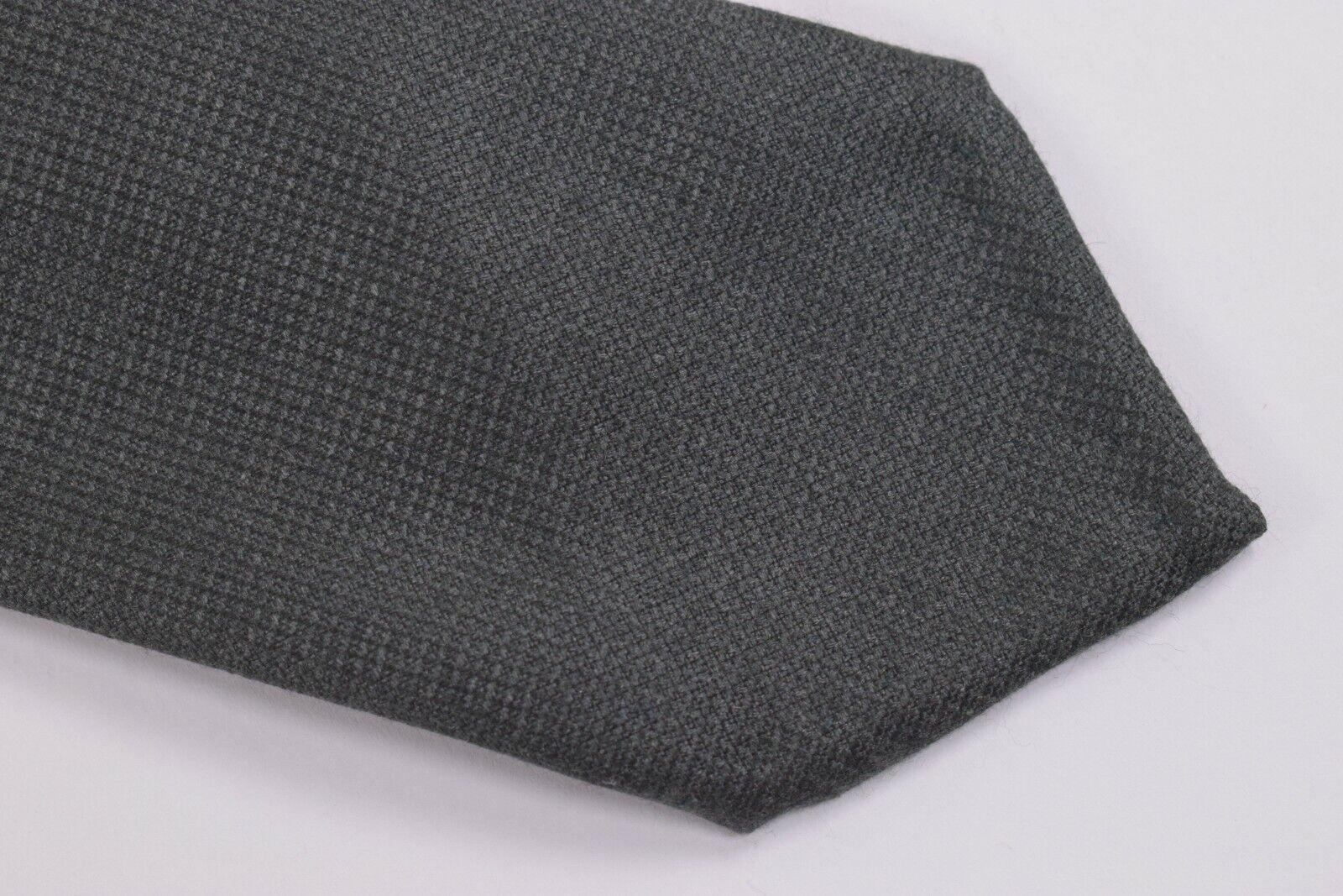 Belvest Neck Tie NWT Charcoal Grey Cashmere Blend