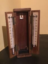 Vintage Wooden Cased Thermometers By Casella London