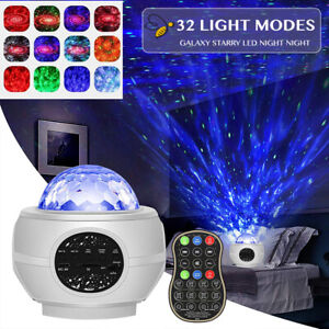 LED Galaxy Starry Night Lights Lamp Star Projector Night Light With Speaker