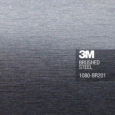 3M 1080 Brushed Aluminum Metal Vinyl Vehicle Decal Car Wrap Film Sheet Roll