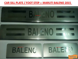 Car-Stainless-Steel-Foot-Step-Sill-Plate-Set-of-4-pieces-Baleno-2015