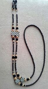 !! COURTLEY BEADED CRYSTAL CHECK EYEGLASS CHAIN !