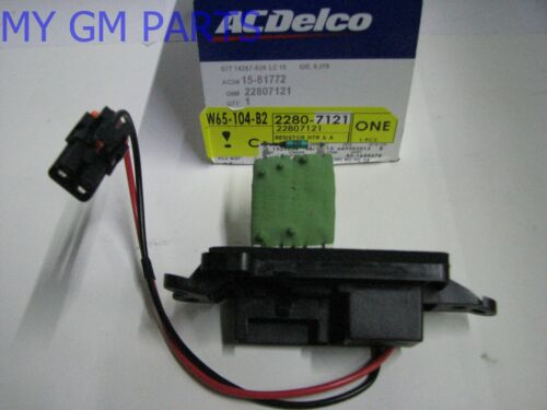 TRAILBLAZER ENVOY RAINER A//C HEATER BLOWER MOTOR RESISTOR NEW OEM  22807121