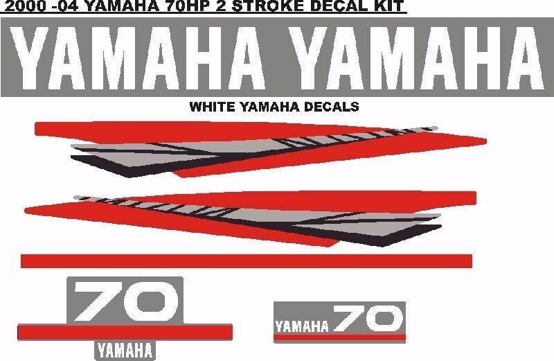 YAMAHA 70hp 2 stroke and 4 stroke outboard decals