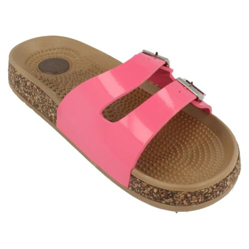 Ladies F0809 Pink Synthetic Mule Sandal by Spot On Retail price  £5.99