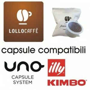 200-capsule-caffe-LOLLO-miscela-NERA-compatibili-UNO-SYSTEM-ILLY-KIMBO-INDESIT