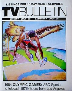 TV-Guide-1984-Regional-Olympics-Los-Angeles-XXIII-Olympiad-Summer-Original-VTG