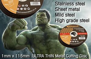 Steel-amp-Stainless-Metal-Cutting-Disc-1mm-115-mm-Ultra-Thin-Angle-Grinder-Blade