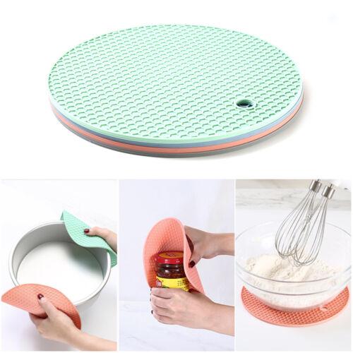 18 cm résistant à la chaleur silicone Mat Coasters Non-slip-pot de table napperon