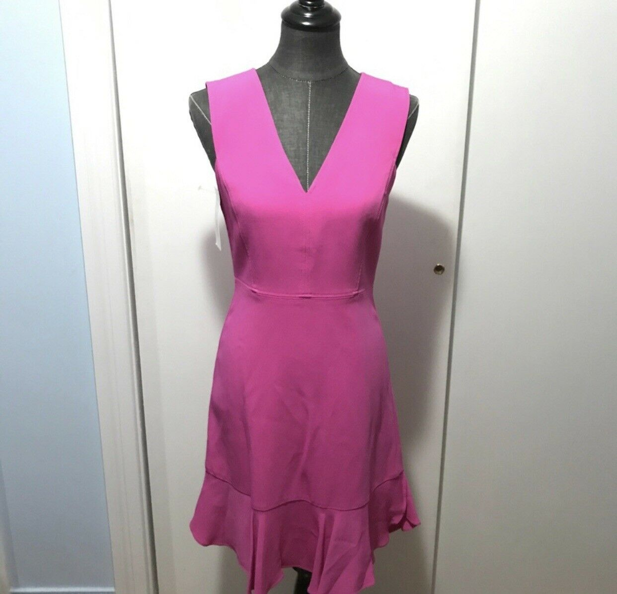 Rebecca Taylor Fuscia Rosa Dress Fit And Frill Sz 8