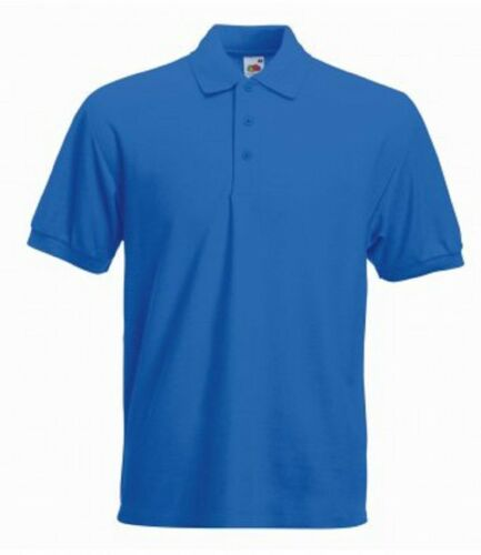 3-Pack Fruit of the Loom Men/'s Heavy Poly//Cotton Piqué Polo Shirt Sports Gym New