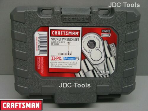Craftsman Tool Case Empty for 1//4 Drive MM Socket and Ratchet Wrench