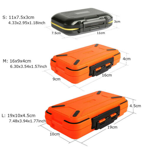 Waterproof Fishing Tackle Box 30 Compartments Storage Case Small Lure Bait Box