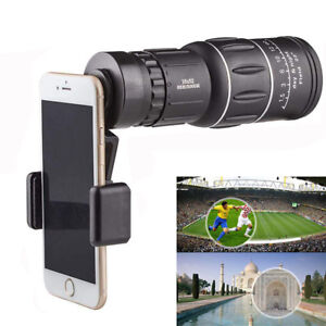 16x52-Zoom-Optical-HD-Lens-Monocular-Telescope-Outdoor-Hiking-For-Smart-Phone