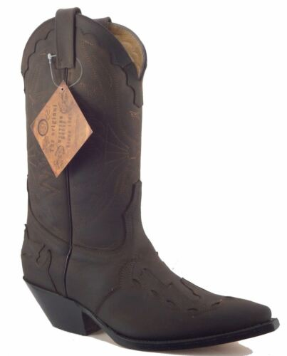 in Stivali Crazy Horse messicano marrone Cowboy Western Grinders scuro pelle Arizona I7x0UXY