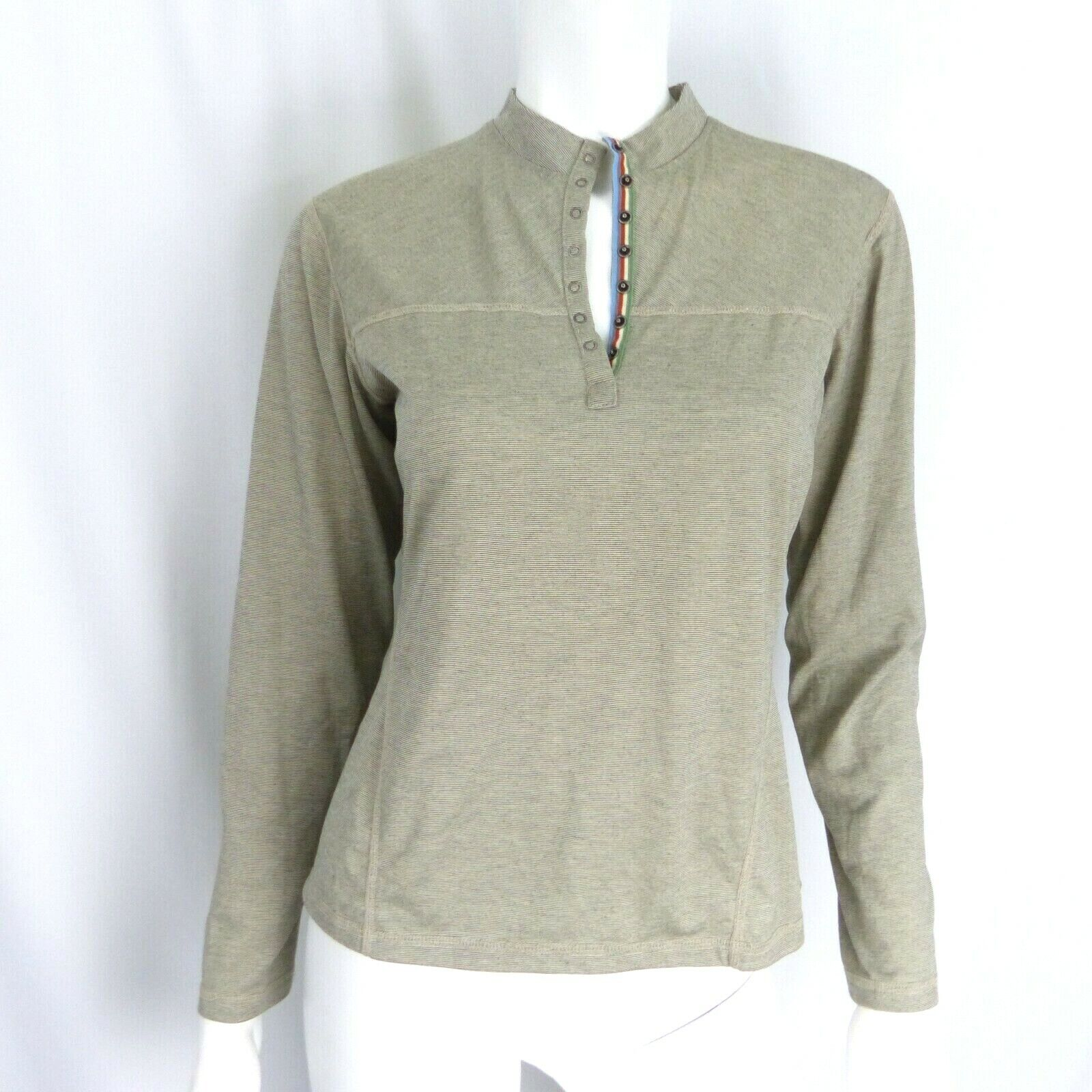 Mountain Hardwear Womens Gray Popover Base Layer thermal Medium Button Snap