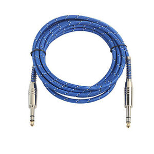 Premium-Guitar-Bass-Lead-6-35mm-1-4-034-Angled-Jack-Pro-Noiseless-Instrument-Cable