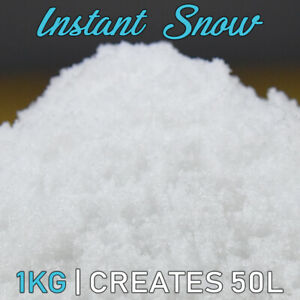 1kg Instant Faux Snow Artificial Fake Snow Xmas Frozen Themed Parties 50 Ltr