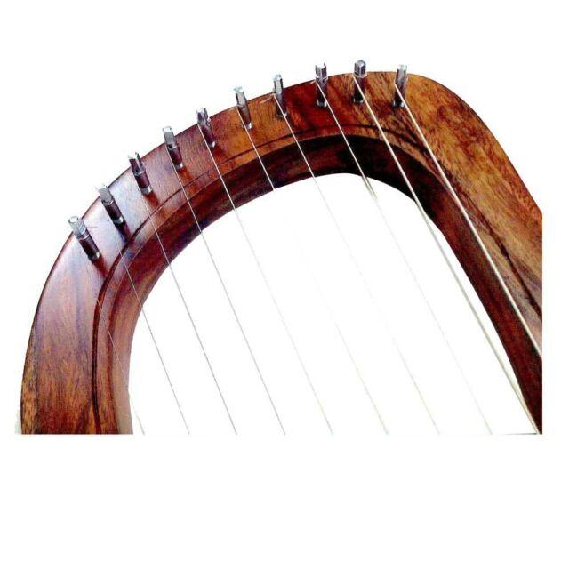 Lyre Harp Engraved Celtic Welsh Dragon//Lyra Harp Sheesham Wood Dragon