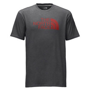 d6088146d Details about The North Face Mens Short-Sleeve Half Dome Tee T-shirt TNF  Dark Grey Heather/Red