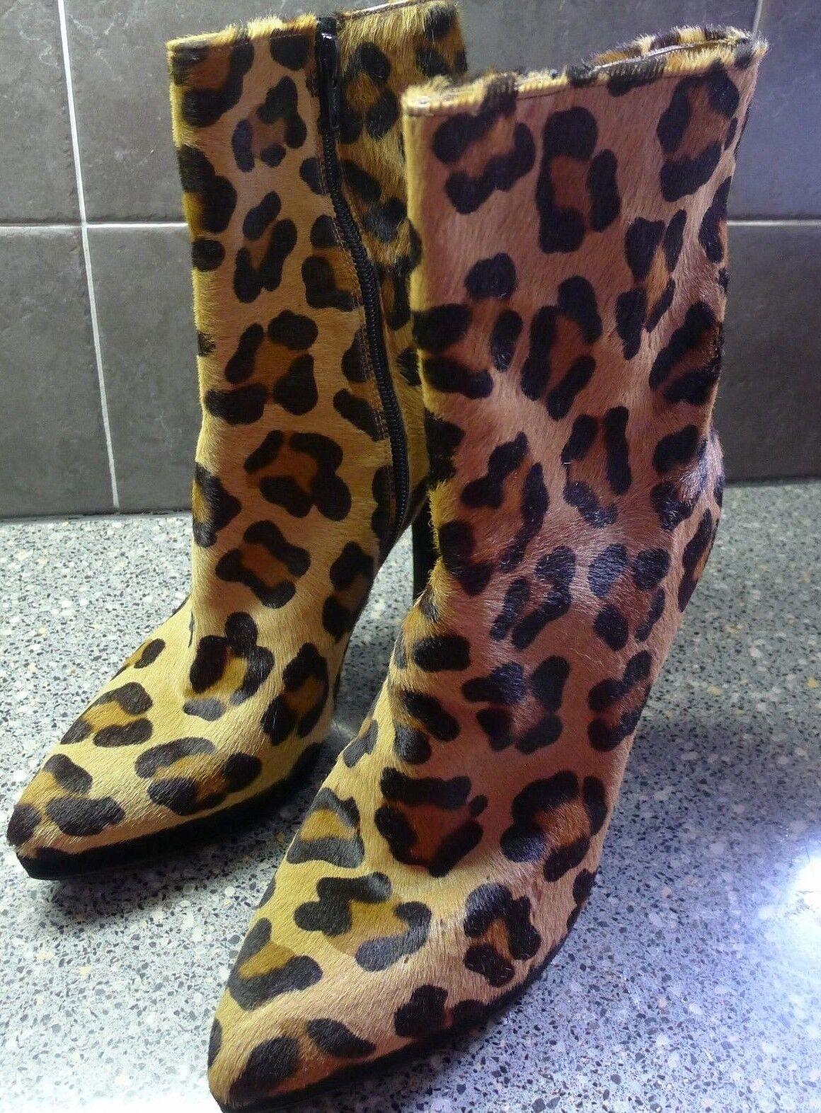 Raro Stuart Weitzman Coñac Leopardo haircalf botas  totalmente Nuevo Nuevo Nuevo  Talla 9  ganancia cero