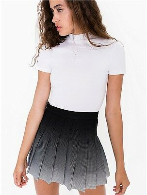 NWT American Apparel Women/'s Pleated School Skirt White Size LARGE