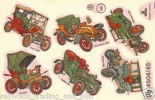 2x pc Ceramic Waterslide Transfers/Decals Vintage/Classic Cars 45mm Mulder Slide