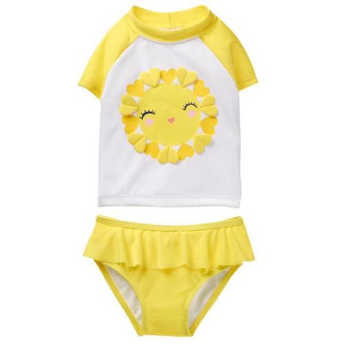 NWT $32.95 Gymboree Girl Swim 2-Piece Sunshine 6 12 18 24 2T 3T UPF 50