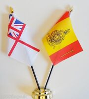 Royal Navy White Ensign & RM 43 Commando Double Friendship Table Flag Set