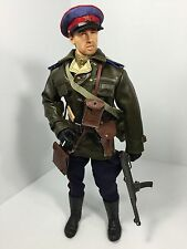 1/6 RUSSIAN RED ARMY POLITICAL OFFICER PPSH-43 TOKAREV MAP SMG WW2 DID BBI 21st
