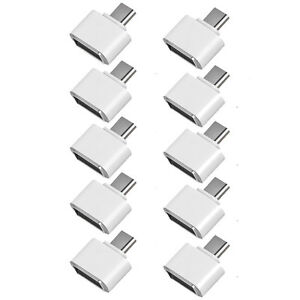 10-Micro-USB-Maschio-a-USB-Femmina-OTG-Adattatore-Convertitore-per-Android
