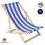 Liegestuhl-Holz-Strandliege-Sonnenliege-Gartenliege-Buchenholz-Liege-120-kg Indexbild 15