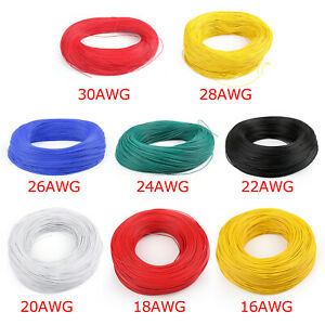Flexible-Stranded-UL1007-16AWG-30AWG-Electronique-Wire-PVC-Cable-300V-ROHs-B-AF