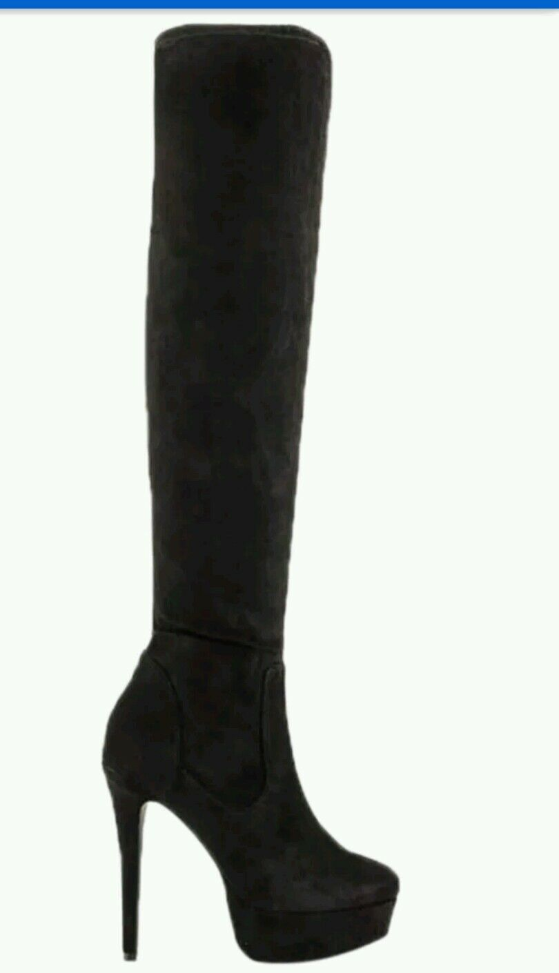 LFL Lust 4 Life Prime Women's Over The Knee Boots Faux Suede size 8 reg 110.00