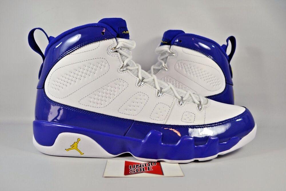 NEW Nike Air Jordan IX 9 Retro KOBE BRYANT PE LAKERS 302370-121 sz 17