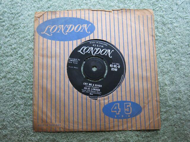 Julie London Cry Me a River Londres centro redondo de 7 pulgadas ~ ~ 45-HL-U! 8240!