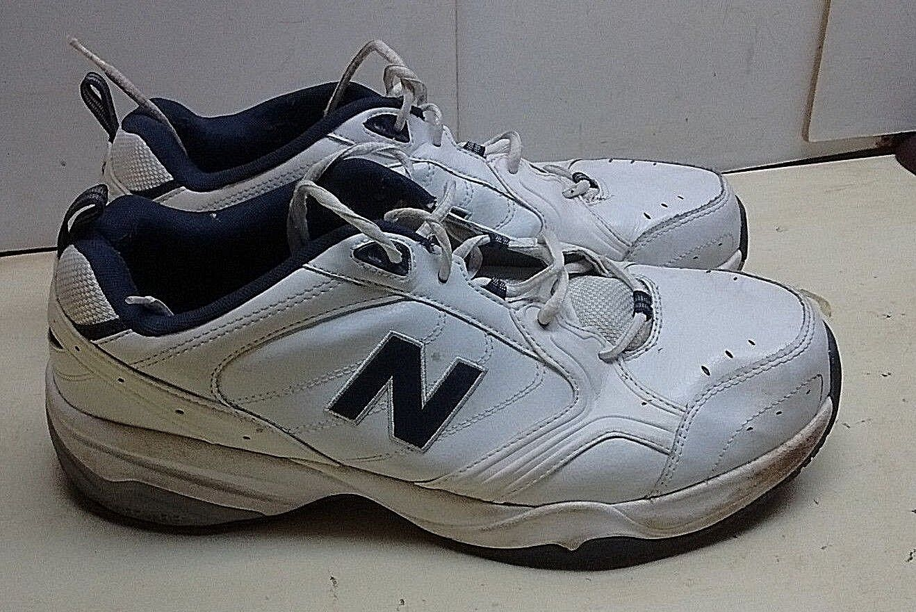 New Balance 624 blanc Leather Athletic Lace baskets Running Men chaussures 15 (4E) 50