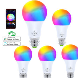 5-Pack-WiFi-Smart-Light-Bulb-Bulbs-Dimmable-LED-E27-Google-Home-Alexa-IFTTT-4-5W