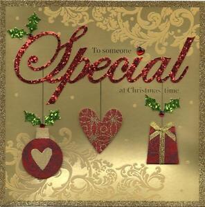 To someone special luxury handmade christmas card xmas cards image is loading to someone special luxury handmade christmas card xmas m4hsunfo