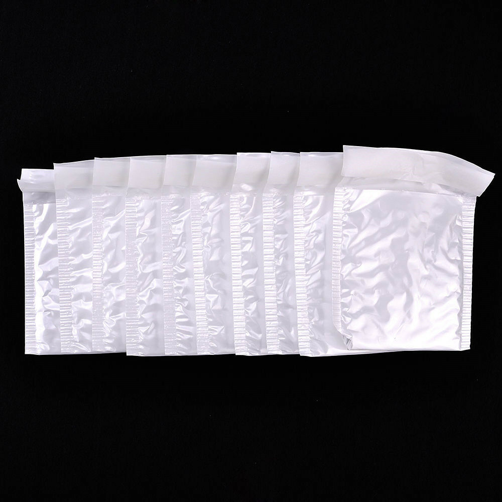10Pcs Poly Bubble Mailers Self Seal Padded Shipping Bags Package White Envelopes