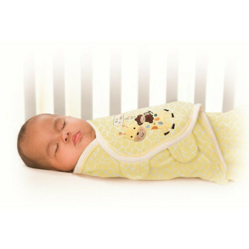Swaddleme Deluxe Newborn Baby Boy Girl Swaddling Wrap Embroidery Blanket 0-3mths
