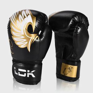 PU Leather Boxing Sparring Gloves Sandbag Combat Training kickboxing Men Black