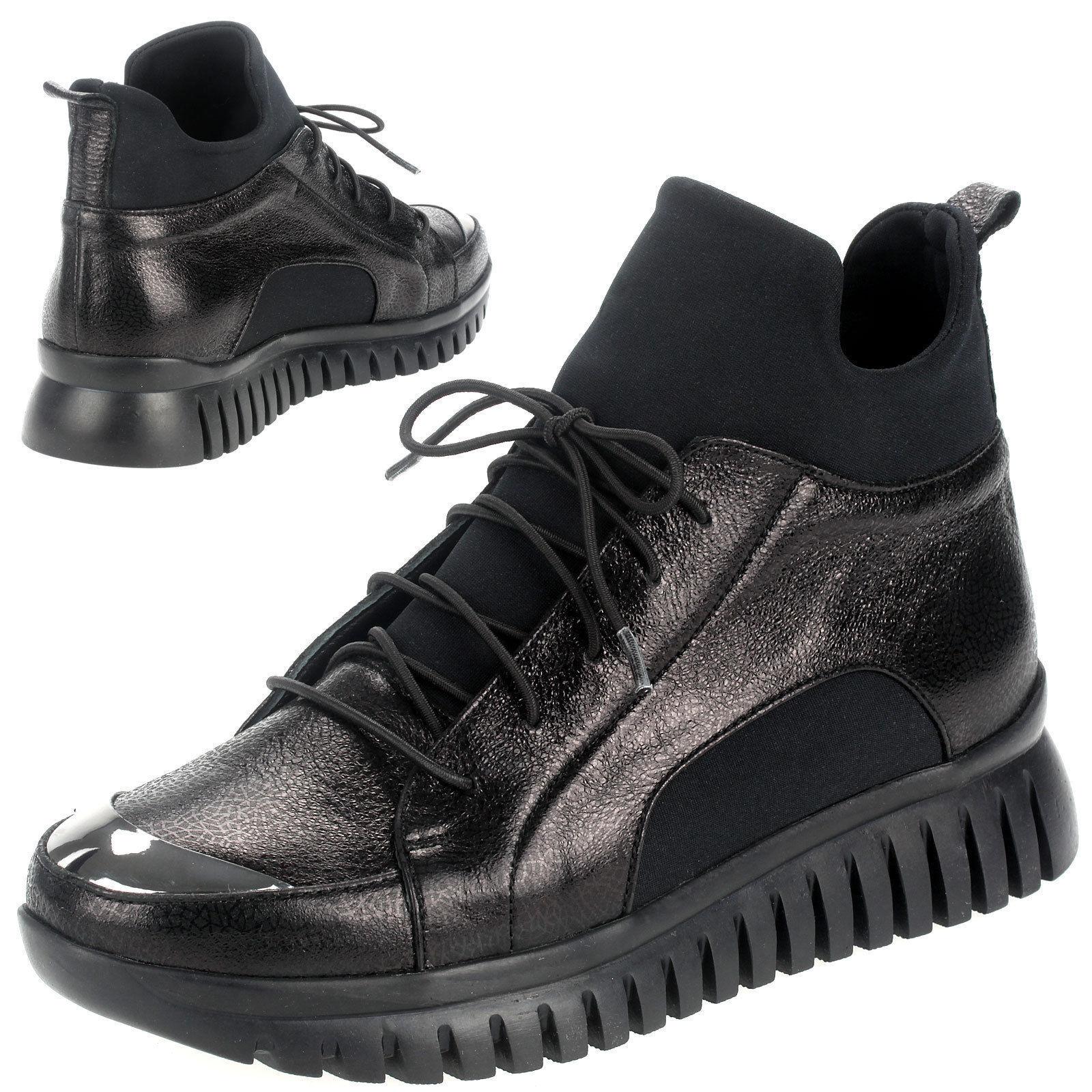 Señora botines botas zapatilla de deporte caballero zapatos casual artiker negro c276