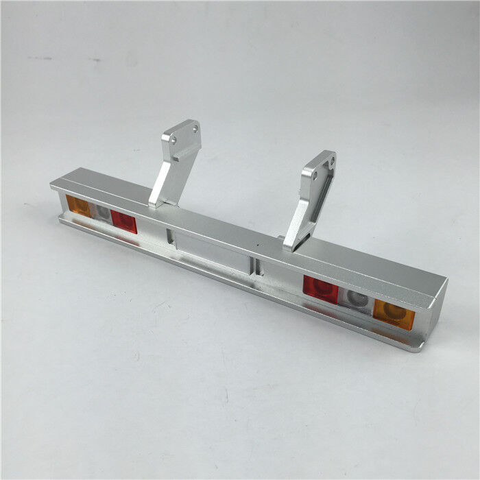 Trailer Alloy Rear Bumper w rectangular tailights for Tamiya Hercules 1 14 Semi